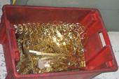 złote odpadki z wykrojnika
